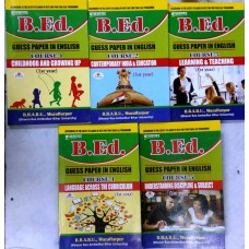 B. Ed guess paper (in english)  5 books