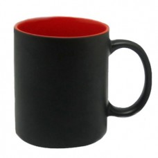 Black Magic Mug inside red color Personalized with photo